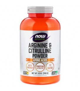 NOW FOODS ARGININE & CITRULINE POWDER 340G