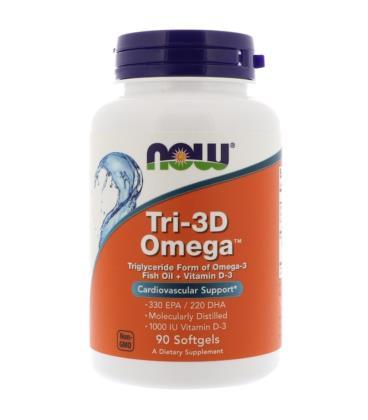 NOW FOODS TRI-3D OMEGA 90 SOFTGELS
