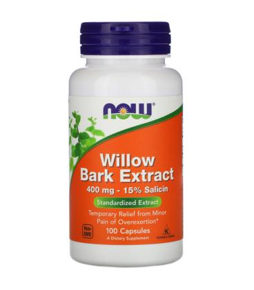 NOW FOODS WILLOW BARK EXTRACT 400MG 100CAPS