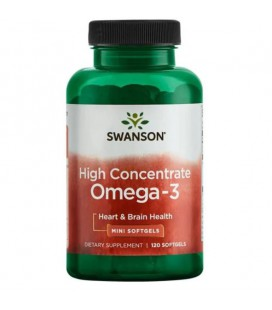 Swanson High Concentrate Omega-3 120 softgels