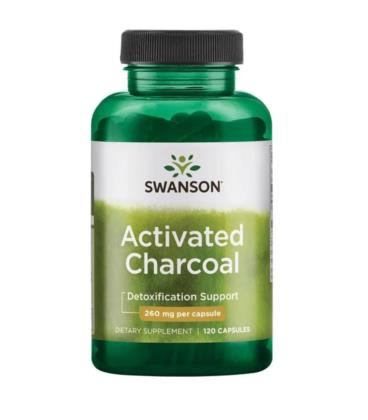 Swanson Activated Charcoal 260mg 120 kaps.