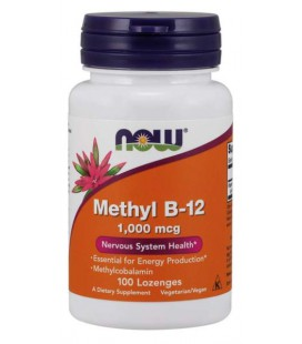 NOW FOODS Methyl B-12 1000mcg 100 lozenges