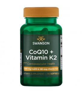 Swanson Ultra COQ10 + Vitamin K2 60 softgels