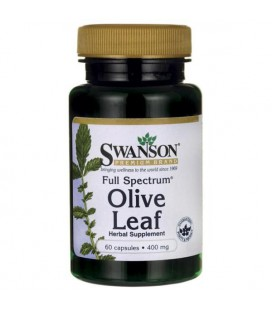 Swanson Full Spectrum Olive Leaf 400mg 60 kaps.