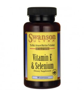Swanson Vitamin E with Selenium 90 softgels