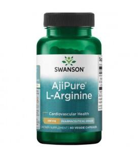 Swanson AjiPure L-Arginine 500mg 60 kaps.