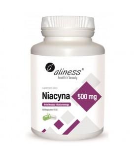 Aliness Niacyna 500mg 100 Vege Kapsułek
