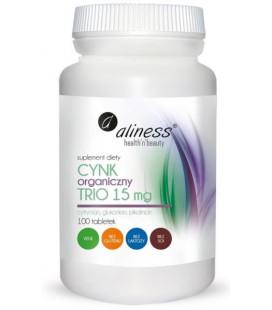 Aliness Cynk Organiczny Trio 15mg 100 Tabletek
