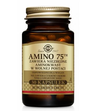 Solgar Amino 75 Aminokwasy w Postaci wolnej 30kaps
