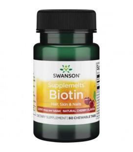 Swanson Biotyna 5000 mcg 60 tabletek do ssania