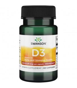 Swanson Vitamin D-3 1000IU High Potency Dry 60caps