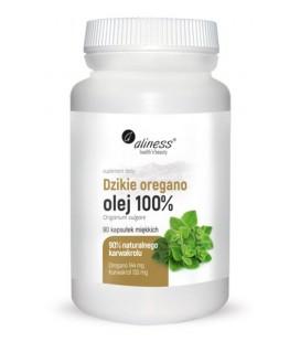 Aliness Dzikie Oregano Olej 100% 90 Kapsułek