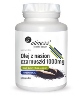 Aliness Olej z nasion Czarnuszki 2% 1000mg 60 Kapsułek