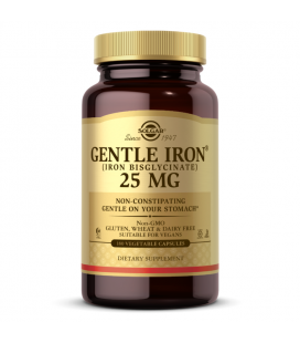 Solgar Gentle Iron 25mg 180caps chelat aminokwasowy