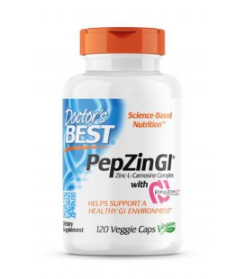 Doctor's Best PepZin GI (Cynk, L-Karnozyna) 120 kaps.