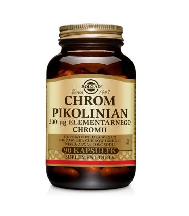 Solgar Chrom Pikolinian 200ug el. chromu 90kap