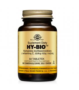 Solgar HY-BIO Kompleks Bioflawonoidowy wit C Dzika Róża Rutyna 50 tabletek