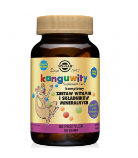 Solgar Kangavites Multivitamin Complex 60tabletek do ssania Jagodowe
