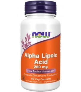 NOW FOODS ALPHA LIPOIC ACID 250mg 60 kaps.