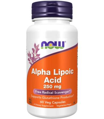 NOW FOODS ALPHA LIPOIC ACID 250mg 60 kaps.