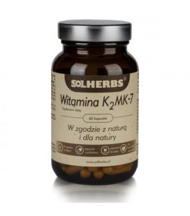 SOLHERBS Witamina K2 MK-7 60Kapsułek