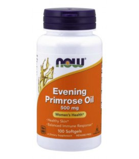 NOW FOODS EVENING PRIMROSE Olej z Nasion Wiesiołka 500mg 100 sgels