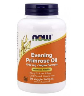 NOW FOODS EVENING PRIMROSE Olej z Nasion Wiesiołka 1000mg 90 sgels