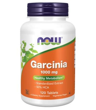 NOW FOODS GARCINIA CAMBOGIA 1000mg 120 Tabletek
