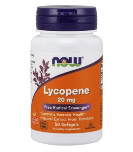 NOW FOODS LYCOPENE Likopen 20mg 50 Sgels