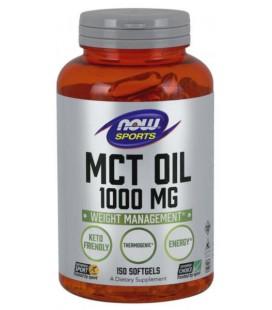 NOW FOODS MCT OIL Olej MCT 1000mg 150 Sgels