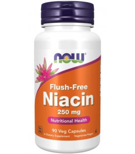NOW FOODS NIACIN Niacyna FLUSH FREE 250mg 90 Kaps