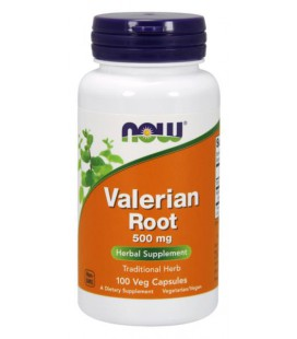 NOW FOODS VALERIAN ROOT Waleriana 500mg 100vcaps