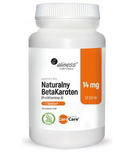 Aliness Naturalny Beta Karoten 14mg 100 Vege Tablek