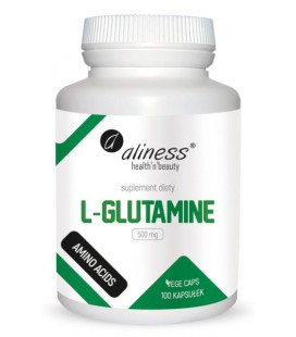 Aliness L-Glutamine 500mg 100 VEGE kapsułek