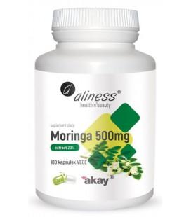 Aliness Moringa Ekstrakt 20% 500mg 100 Vege Kaps