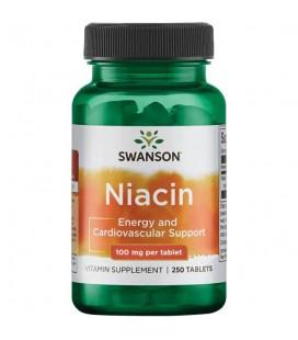 Swanson Niacin 100mg 250 Tabletek