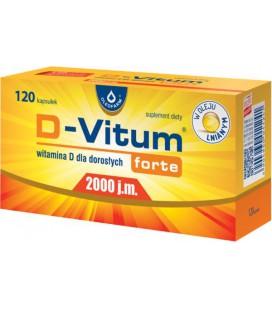 Oleofarm D-Vitum Forte 2000IU 120kapsułek