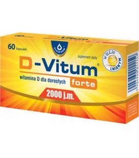 Oleofarm D-Vitum Forte 2000IU 60 kapsułek