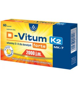 Oleofarm D-Vitum Forte 2000 K2 MK-7 60 kapsułek