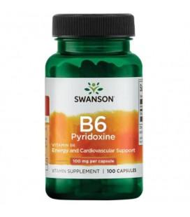 Swanson Vitamin B-6 100mcg 100Caps
