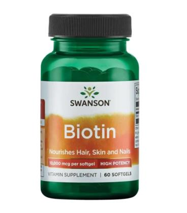 Swanson Biotin High Potency 10000 mcg 60 sgels