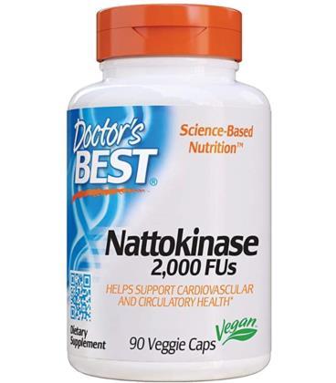 Doctor's Best Nattokinase Zdrowe Jelita 2000 FUs 90vcaps