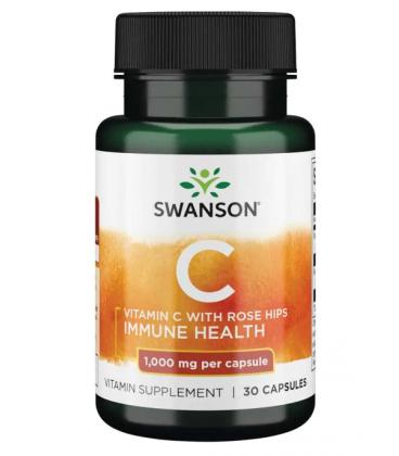 Swanson Vitamin C with Rose Hip 1000mg 30caps
