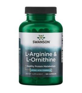 Swanson L-Arginine and L-Ornithine 100caps