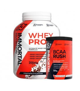 Immortal Whey Protein Instant 2kg + Immortal BCAA Rush 300g