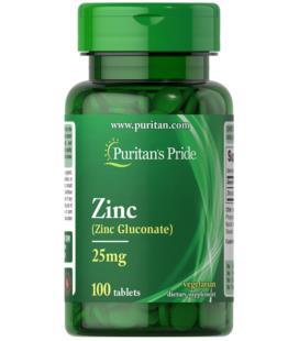 Puritans Pride Gluconate Zinc 25mg 100Tabl