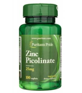 Puritans Pride Zinc Picolinate 25mg 100 tabletek