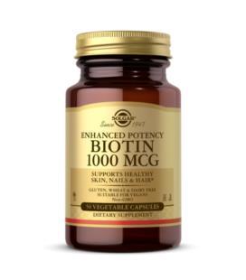 Solgar Biotyna Biotin 1000mcg 50 kapsułek wegańskich