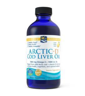 Nordic Naturals Arctic-D Cod Liver Oil Tran z dzikiego dorsza 237ml Cytryna