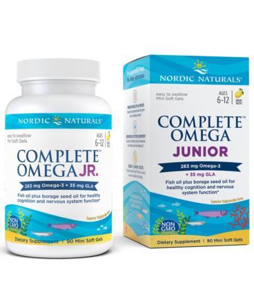 Nordic Naturals Complete Omega Junior 283mg 90 sgels cytryna